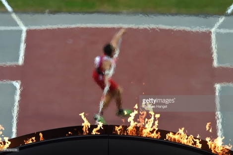 XXX of ZZZ competes in the (discipline & session name) during day ten of the Baku 2015 European Games at the Olympic Stadium on June 22, 2015 in Baku, Azerbaijan.