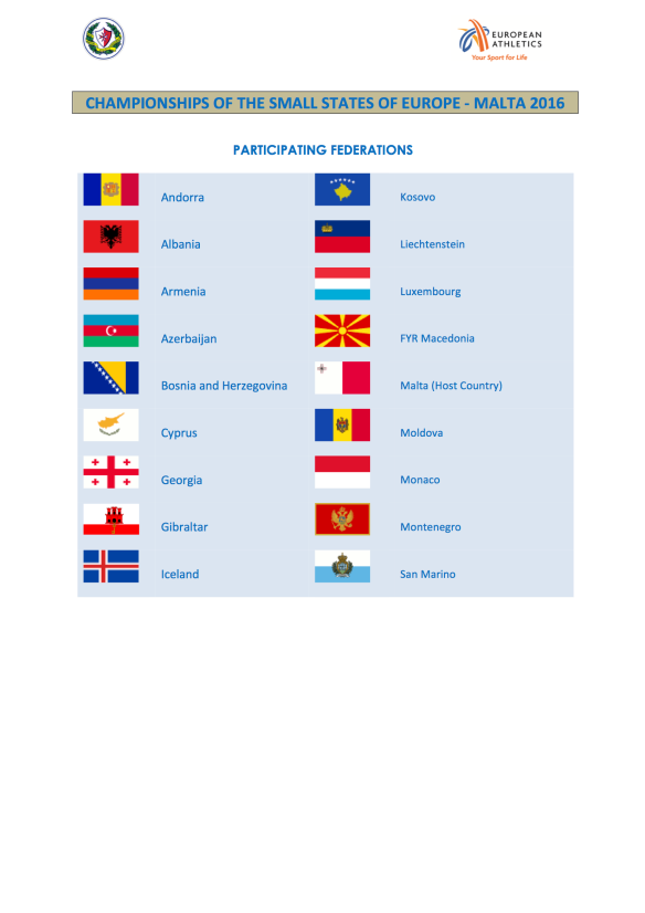 1. PARTICIPATING FEDERATIONS