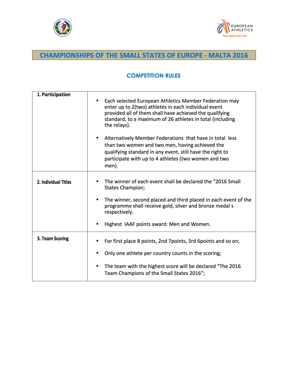 5. COMPETITION RULES